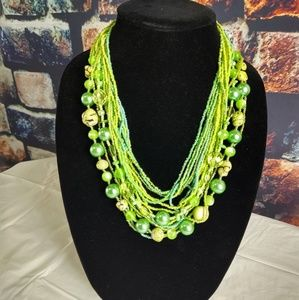 Fun green necklace